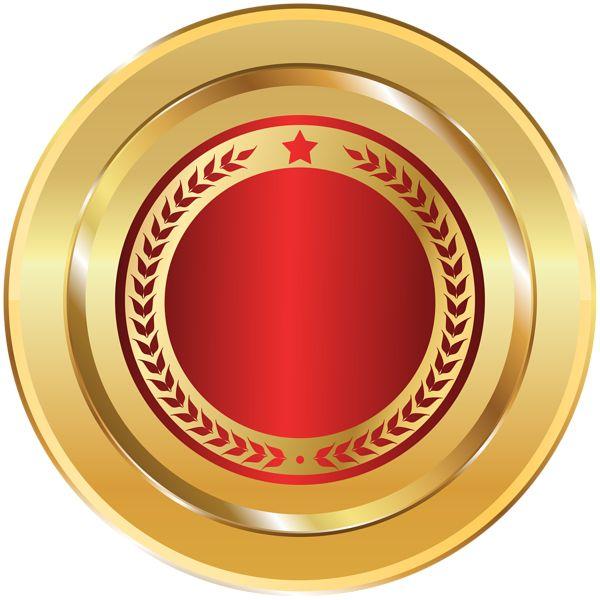 Gold Red Seal Badge Png Transparent Clip Art Image Logo Design Art Art Images Art Poster Design