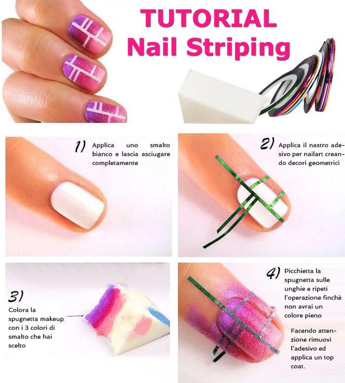 Bellissimi NAIL STRIPING adesivi da utilizzare per realizzare splendide nail art o come decorazioni