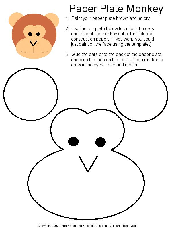 April 30 - Make a paper plate monkey