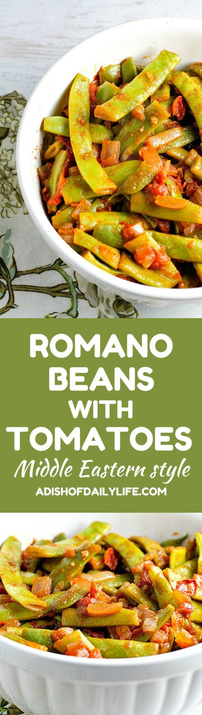 Pick some Romano beans up at the farmer's market this week! Flavorful and easy, Romano Beans with tomatoes is a side dish recipe that goes with just about anything. Definitely a family favorite!