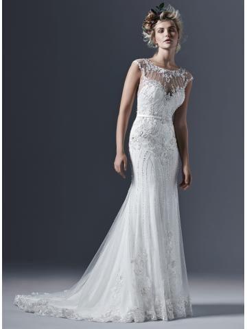 Výstřih do U Bez rukávů Zip Svatební šaty 2015
