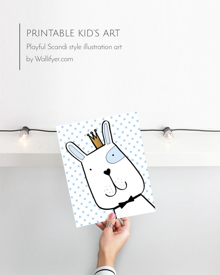 Click to get your own cute Scandi art for kids printable!