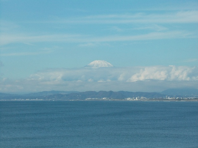 [Enoshima, Kanagawa]Mt.Fuji  The view from Enoshima.