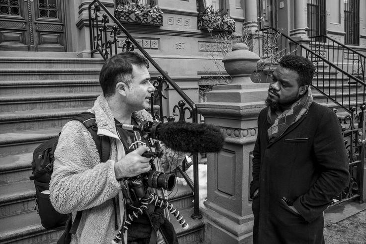 Marcelo Bukin shooting a new original series in Harlem, New York. (Photo: Jorge Represa)