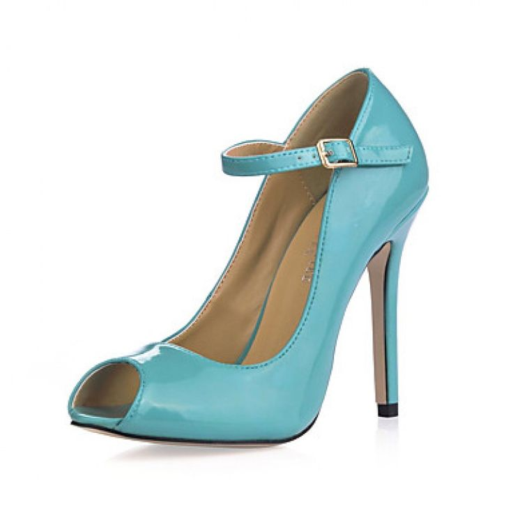 Gorgeous Leatherette Stiletto Heel Pumps / Peep Toe With Buckle Party / Evening Shoes Nz