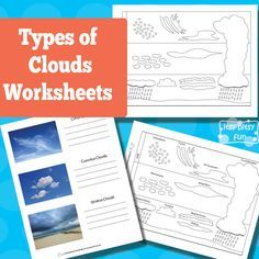 FREE printable:Types of Clouds Worksheets...Clouds can be tough to learn and I really do hope these types of clouds worksheets will be of help.  I've made quite a few variations so you can use them with kids of different ages and with different curriculum.