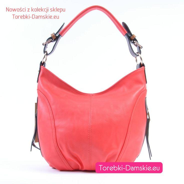 Torebki z kolekcji 2014: ładny, zgrabny worek w kolorze jasnoczerwonym (odcień miąższu arbuza). #torebki #moda