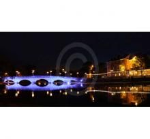 Bedford Town Bridge in Blue at Night | The Picture Gallery and Framing Centre