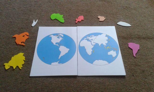 Cabrioles et Cacahuètes: Puzzle Planisphère en mousse / DIY Montessori Continent jigsaw puzzle with foam sheets Geography