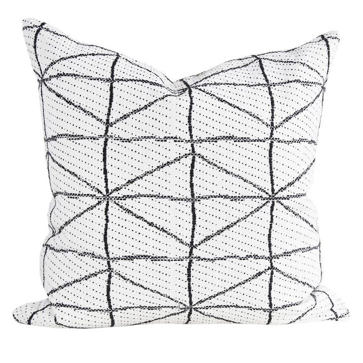 Vigo, Black + Cream Pillow – Tonic Living