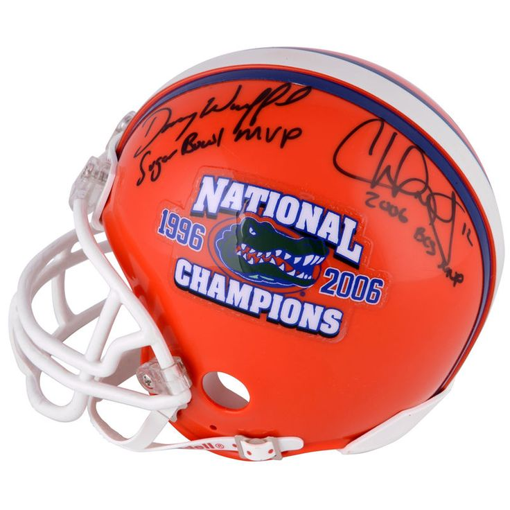 Chris Leak, Danny Wuerffel Florida Gators Fanatics Authentic Autographed Riddell Mini Helmet with Multiple Inscriptions