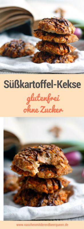 Süßkartoffel-Kekse ohne Mehl, glutenfrei, ohne Industriezucker