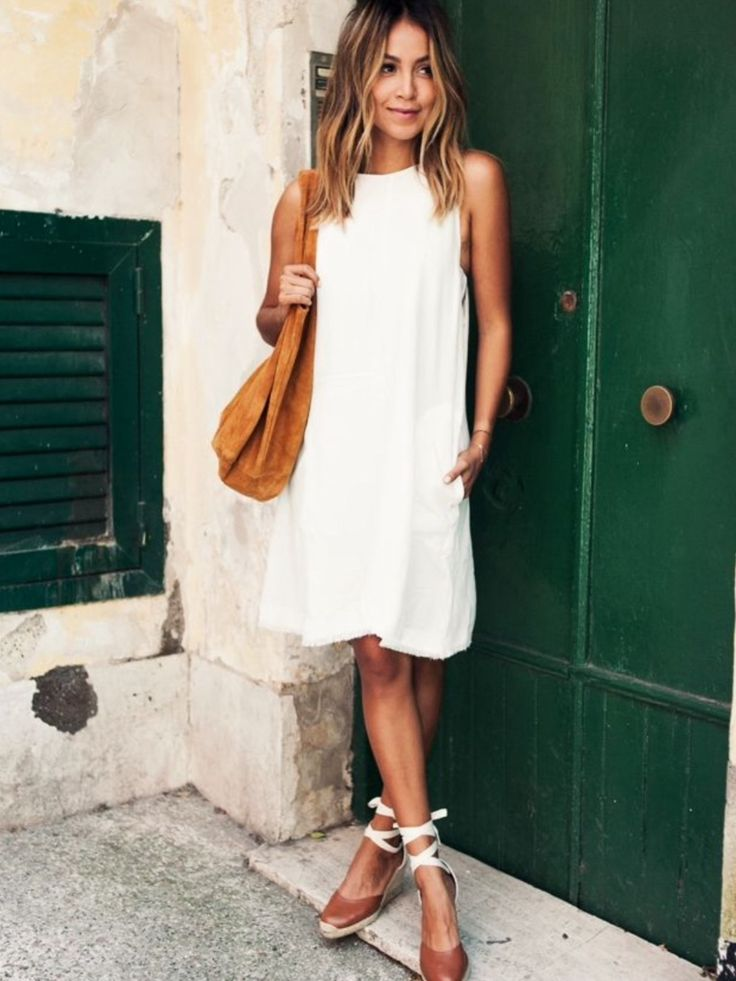 Trompette dress. White sleeveless dress. Neutral espadrilles. Resort wear. Stitch fix 2016