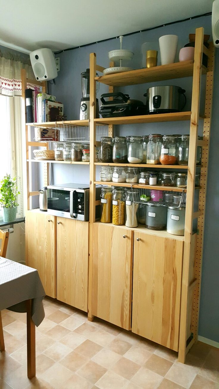 Industrial Regal Ikea Ivar | Lyra House In 2019 | Kitchen Pantry Cabinet