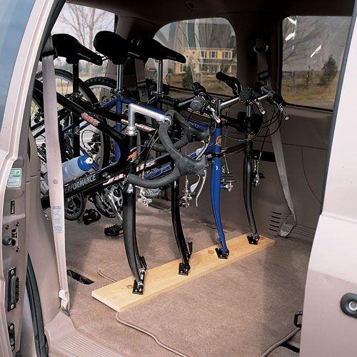 DIY SUV bike rack-angled mount
