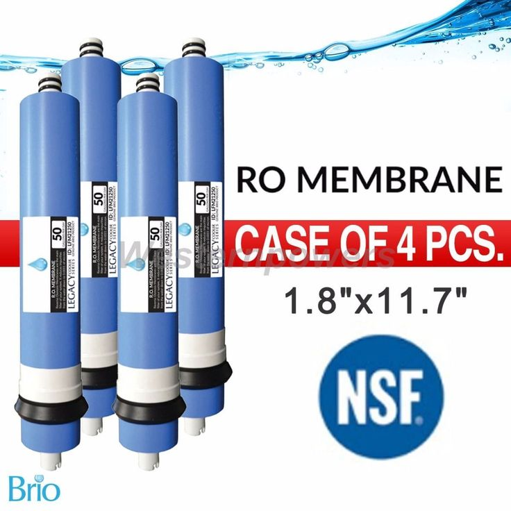 "4X Pcs Biro 50 Gpd 2"" X 12"" Ro Membrane Filter Nsf Approved"