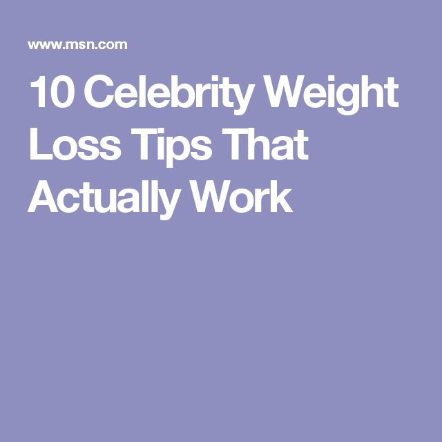 10 Celebrity Weight Loss Tips That Actually Work