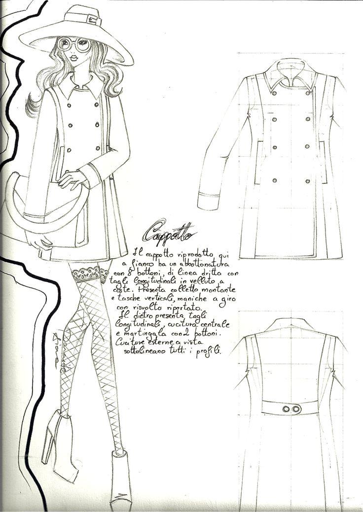 #cappotto disegno, spiegazione e schema a piatto