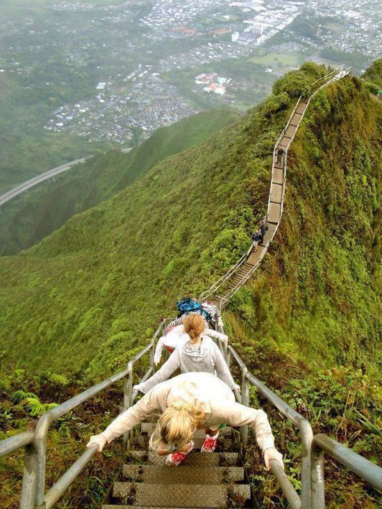 Stairway to Heaven, Oahu, Hawaii. Love this hike. The views are incredible!