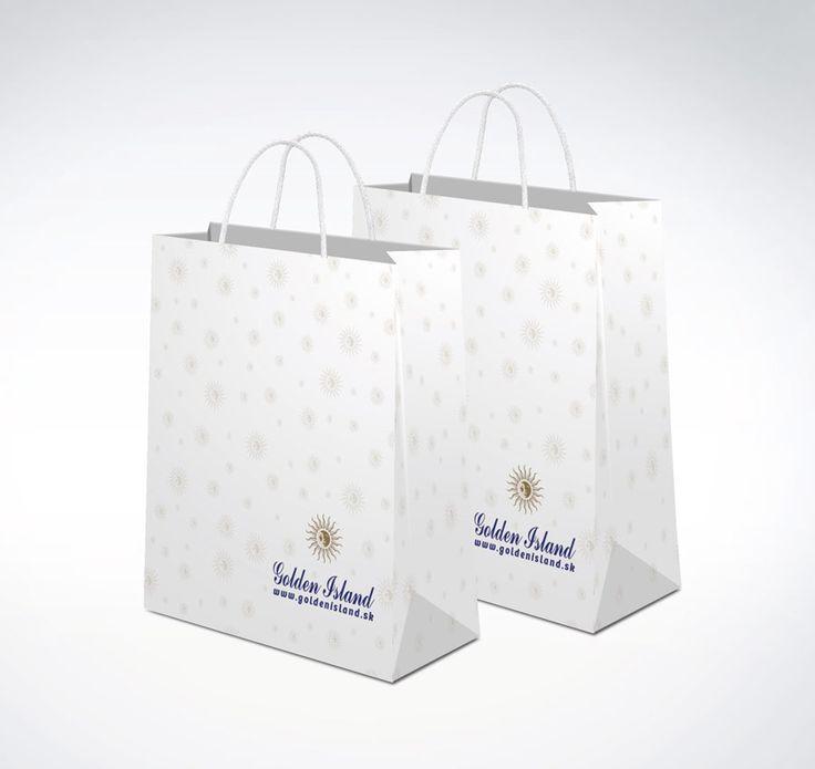 papierová tašky s metalickou farbou