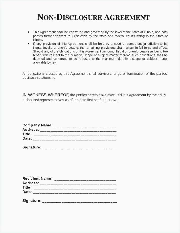 Legal Confidentiality Agreement Template Non Disclosure Agreement Word Template Statement Template