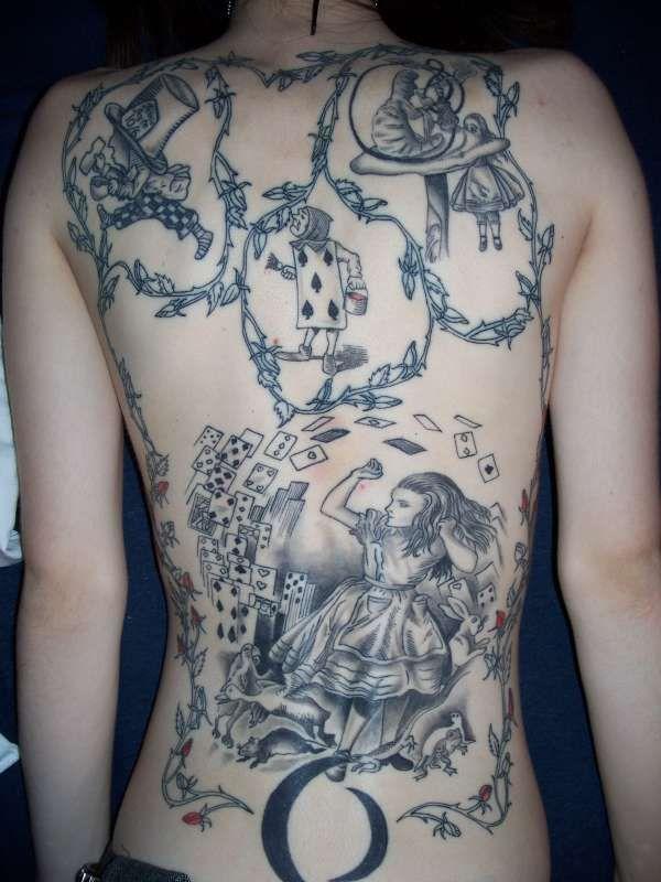 Alice in wonderland original art tat tattoos pinterest wonderland tattoo alice in - Tatouage chat alice au pays des merveilles ...