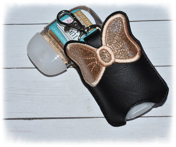 Hand Sanitizer Holder Rose Gold Sanitizer Key Fob Snap Tab