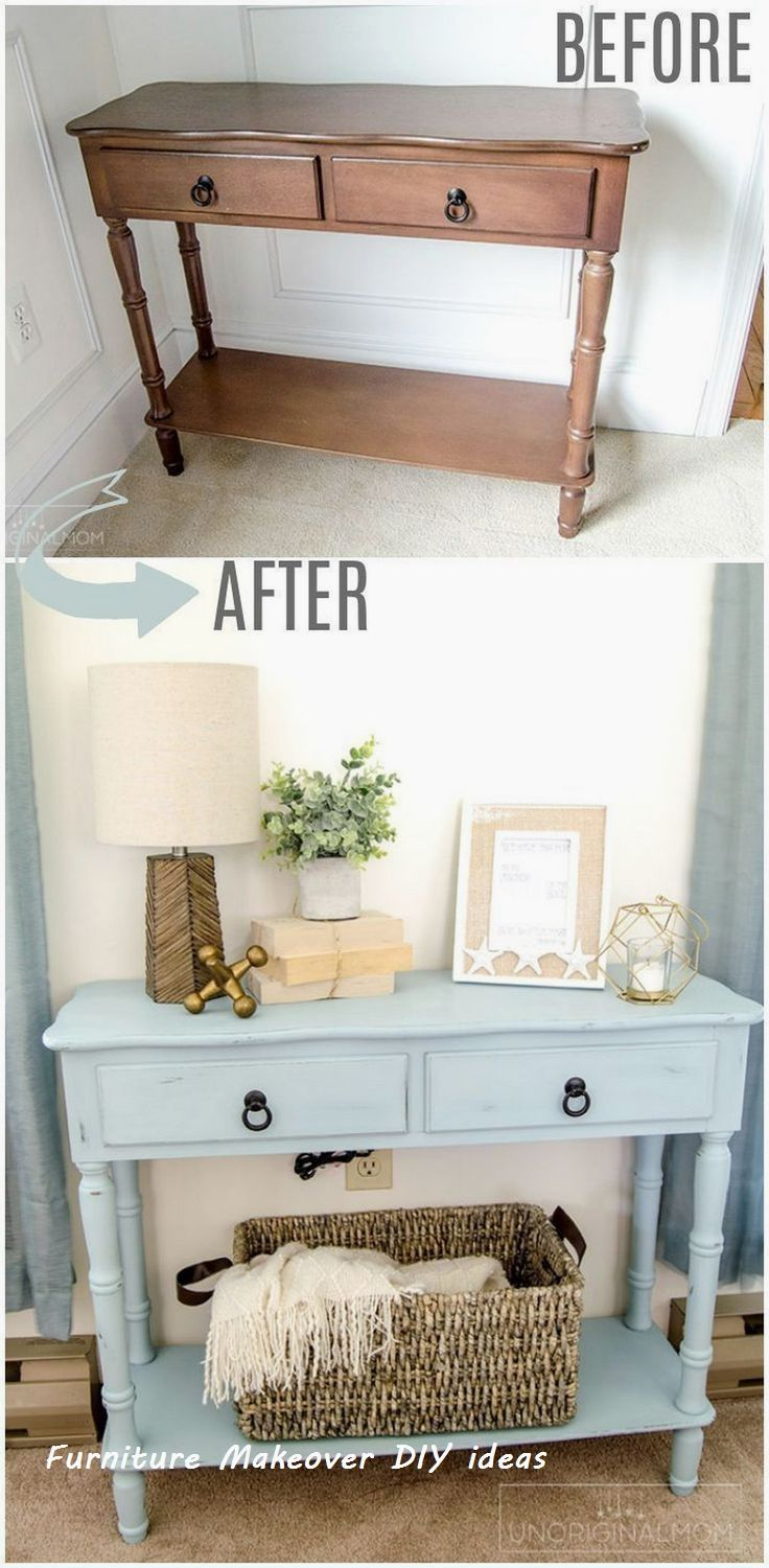81 Farmhouse Side Table DresserNew Simple DIY Furniture Makeover and Transformation #diyhomedecor