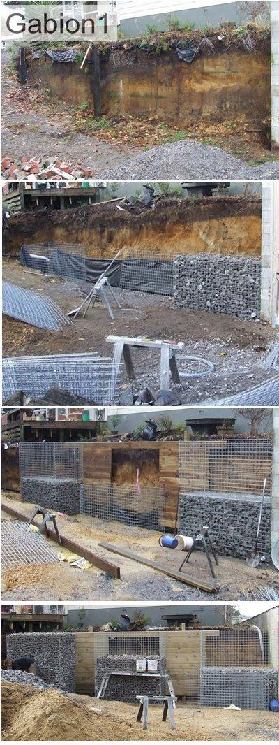 gabion and timber retaining wall http://www.gabion1.com