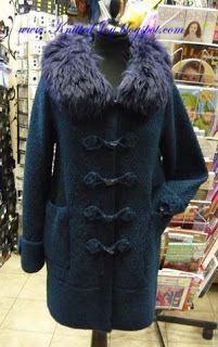 "Knitted Joy: Пальто ""Морское""©"