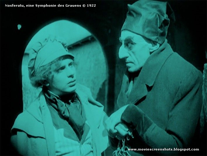 Max Schreck and Gustav v Wangenheim in Nosferatu