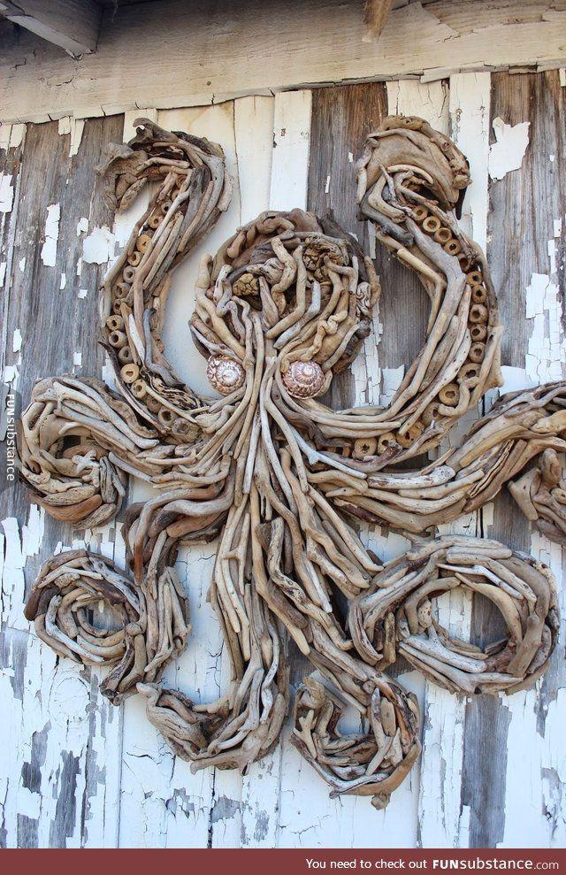 190 best driftwood art ideas images on pinterest. Black Bedroom Furniture Sets. Home Design Ideas