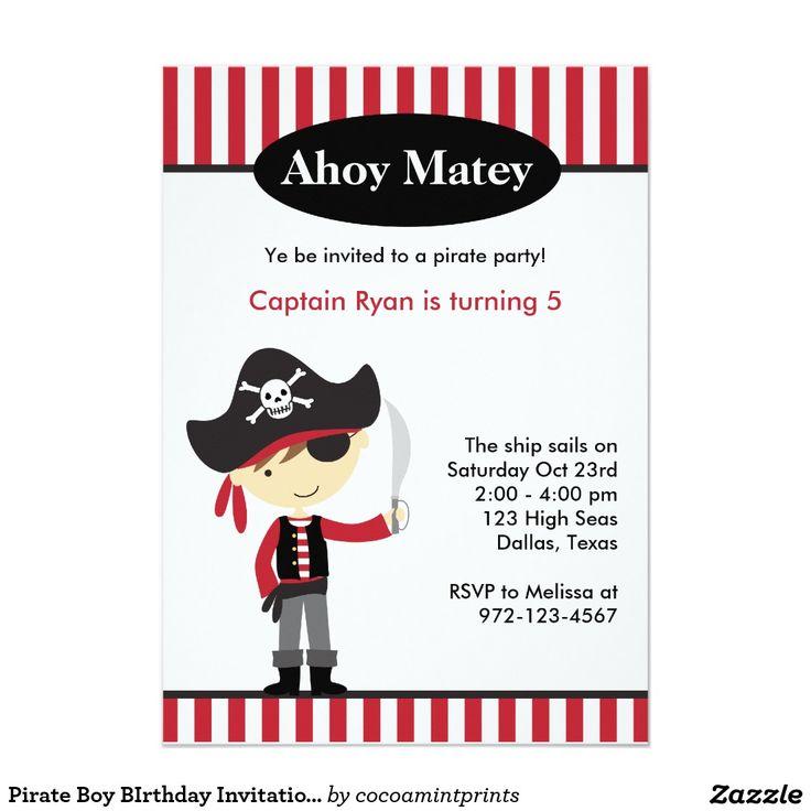 1000 id es sur le th me invitations de pirates sur pinterest f te de pirates f tes d - Invitation anniversaire garcon pirate ...