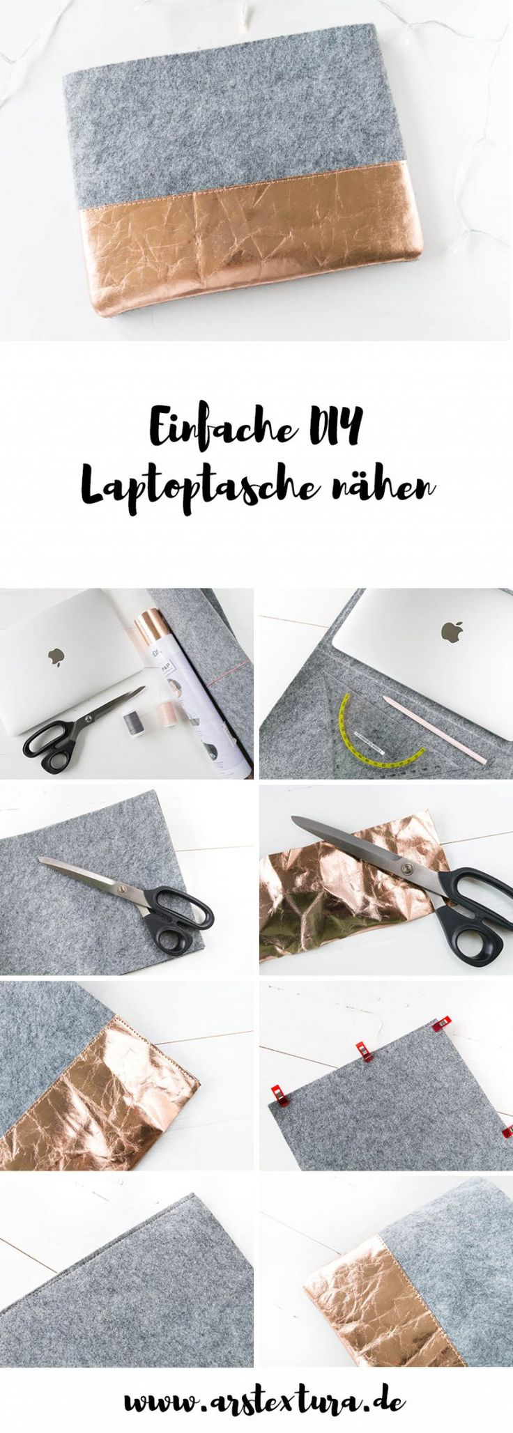 Einfache Laptoptasche nähen