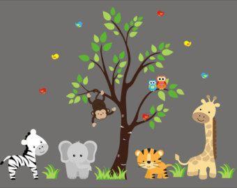 wandtattoo kinderzimmer dschungel besonders pic oder dceefaafbbcdbcfbf nursery wall decals nursery decor