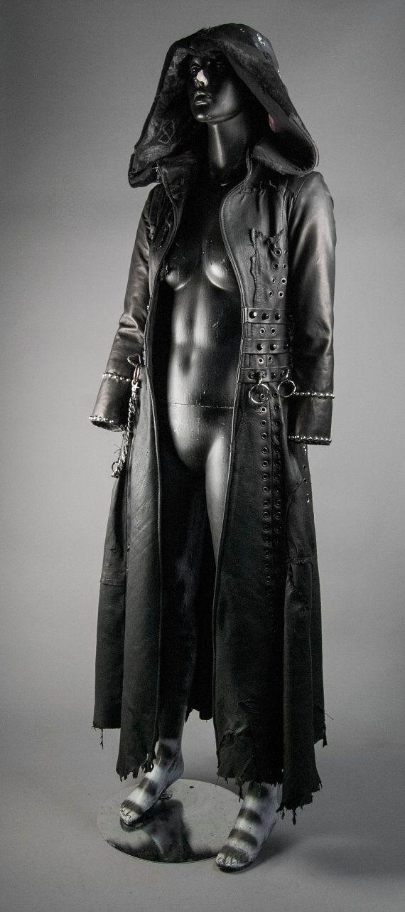 Junker Designs Women's Leather Hooded by JunkerDesignsLeather