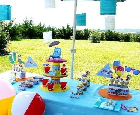 Mejores 55 im genes de ideas para fiestas motivo piscina y for Ideas para cumpleanos en piscina