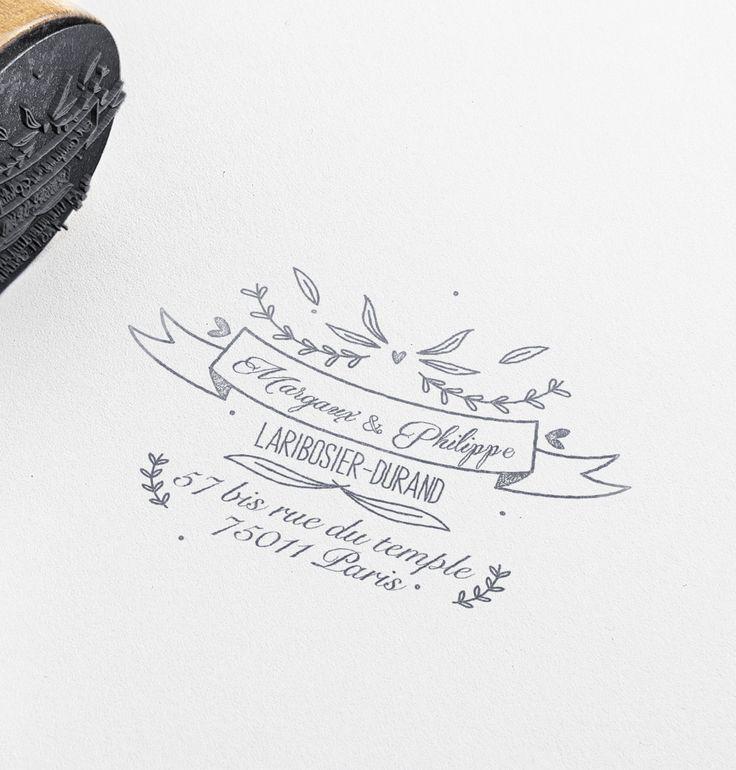 Tampon Mariage Brins d'amour par la Papeterie de Paris