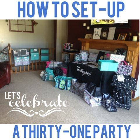 Thirty-One Thursday: Party Set Up! - Me, Myself and Ky