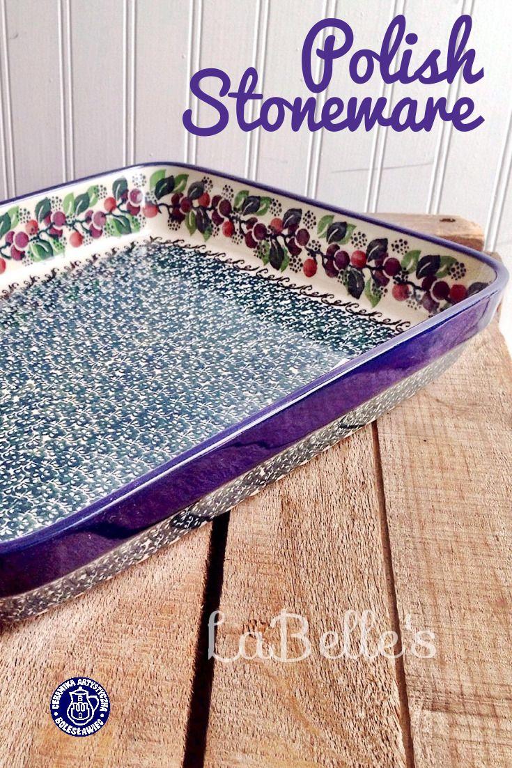 loving the Cranberry Pattern | Cape Cod's  favorite Polish Stoneware Pattern | LaBelle's General Store