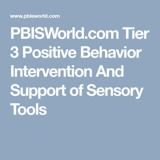 PBISWorld.com Tier 3 Positive Behavior Intervention And Support of Sensory Tools