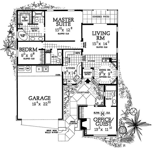 plan 81321w house plan with entry courtyard courtyard