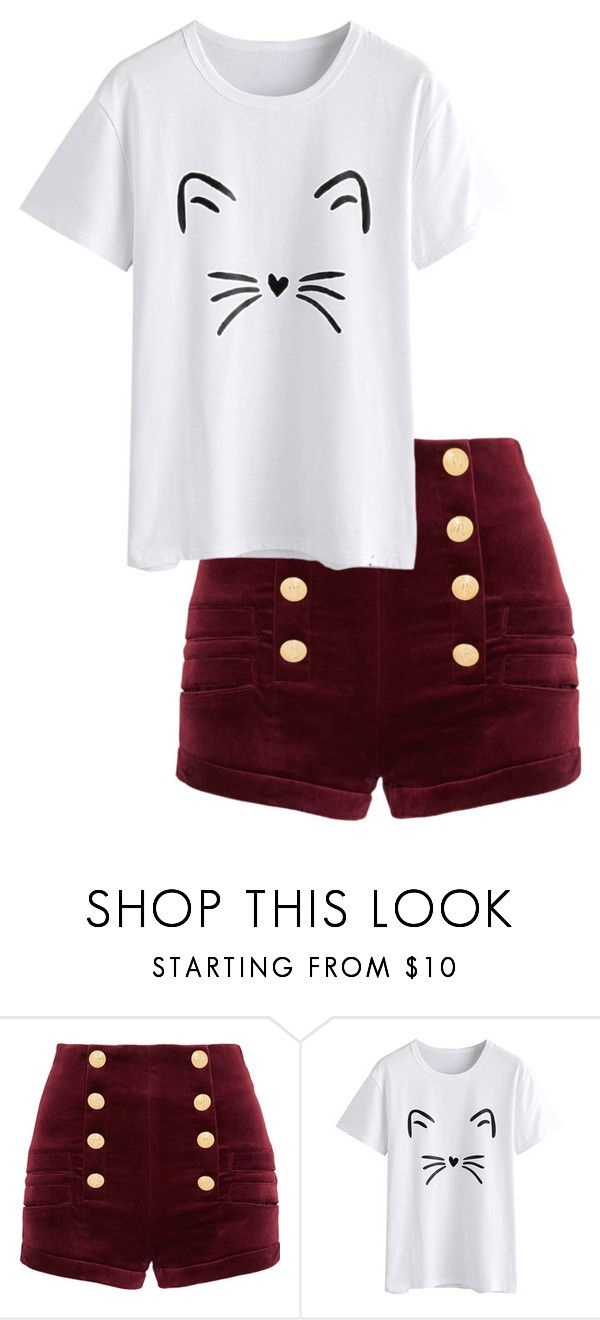 """Testing"" by shoplook on Polyvore featuring Pierre Balmain"