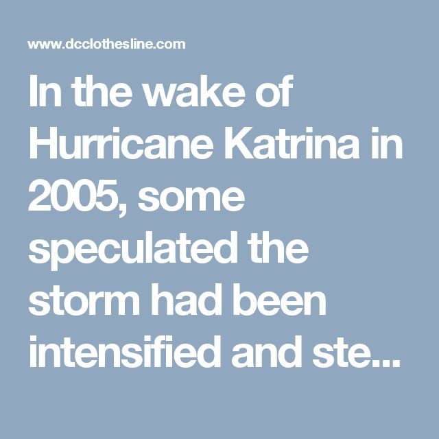 In the Wake of Hurricane Katrina: The Recovery Lag – Part 2