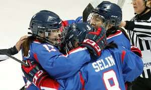 Unified Korean women's ice hockey team play debut match
