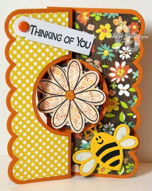 Thinking of You created by Frances Byrne using Sizzix Circle Flip-its Card #2 Framelits