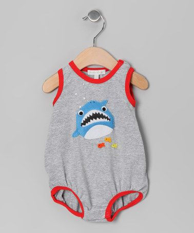 Take a look at this Silver Shark Bubble Bodysuit - Infant by Victoria Kids on #zulily today!