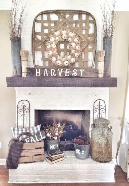 Best 25+ Fall fireplace decor ideas on Pinterest   Fall ...