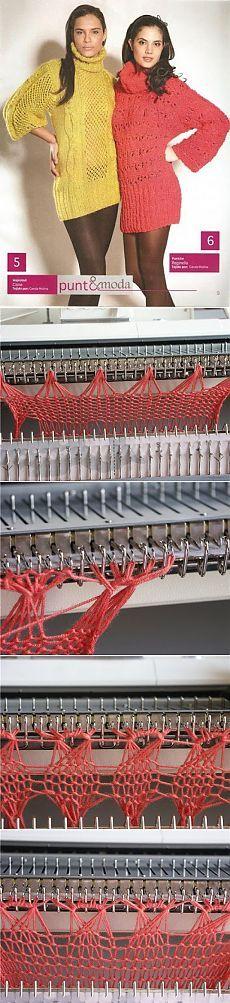 Перуанское вязание на машине. МК.
