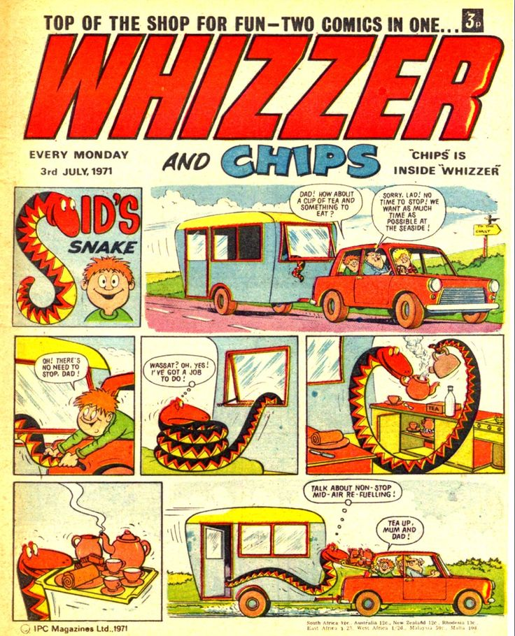 Whizzer and Chips.  This comic ran from 1969 to 1990 and subsequently merged with Buster and Whoopee.